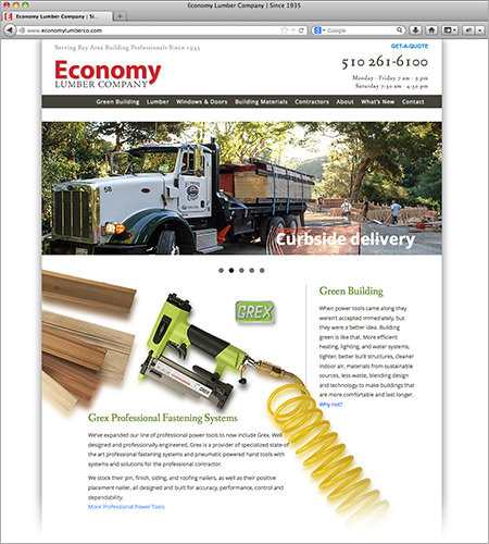 Economy Lumber website