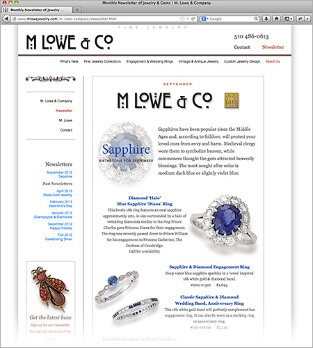 M Lowe & Company Newsletter